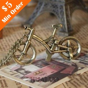 Bronze Bicycle Necklace Chain Hot Sale In Europe & America (Bronze) N223(China (Mainland))
