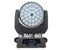 4pcs/Lot  plug flightcase LED moving head zoom wash effect light  with  36pcs x10W RGBW  quad-color led pro dj light