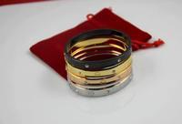 SYB014 316L Stainless Steel Bracelets Bangles women men 14K gold plated Pulseiras Pulseras designer Jewelry brand
