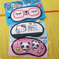 New Cartoon Soft Health Care Eyepatch Eye Patch Sleep Sleeping Mask Cover Blindfold eyeshade with ice bag free shipping 50pcs/l