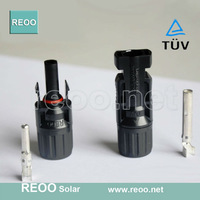 2015 REOO Manufacturer supply MC4 compatibler Solar MC4 cable connector, Pre-contact tech & Low Price + Express shipping
