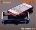 Free shipping Aluminum Vapor4 Bumper metal phone case  For iPhone 4/4s with retail box and backplate