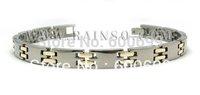 "Free Shipping Fashion Jewelry Healing Magnetic Bracelet Titanium 8.5"" Magnetic Titanium Bracelet OTB-121SGFIR"