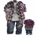hot selling boys spring & auturm 3 pieces clothing sets jeans and long sleeved lattice clothes sets 3sets/lot