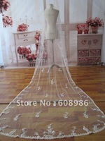 K004    2012 New Long Lace One-layer Bridal Vails