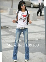 Fashion New Ladies' Boot Cut Jeans,Popular Casual Denim Pants Casual Jeans Women's Trousers.Free shipping QQ8073