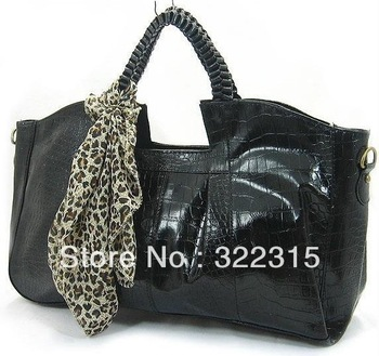 New Hot Fashion Crocodile Shoulder Bag Women Tote Bag Patent Leather Shiny Handbag Hot Products Wholesale CB962