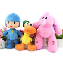 New  plush Pocoyo Elly  Pato Soft Plush Stuffed Figure Toy Doll 12inch 30cm Free Shipping 3Pcs/ Lot(China (Mainland))