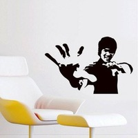 New arrived! Free Shipping:1 SET=8.99USD Bruce Lee DIY 3D Wall Art Removable Decal Stickers Repetitive Use/Wall Sticker