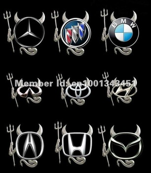 free shipping car 3D emblems alloy auto badge  car sticker