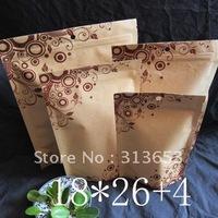 new arrival 100 pcs Aluminum foil food packing bag,tea packaging, zipper  bags,pet food bag 18x26cm- free shipping