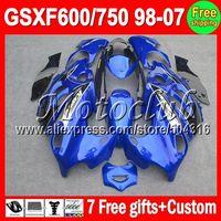 On sale+7gifts Blue black For SUZUKI GSXF 600 750 KATANA 98-07 GSX600F GSX750F GSXF600 98 99 00 01 02 03 04 05 06 07 NEW Fairing