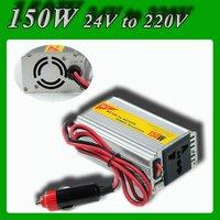 Meind Modified sine wave 150W DC 24V to AC 220V USB Mobile Car Power Inverter converter with cigarette lighting