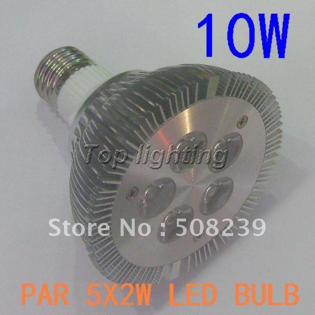 High power 2pcs/lot dimmable PAR30 10W led light PAR30 led spot light , E27 led bulb, cree, Low Price(China (Mainland))