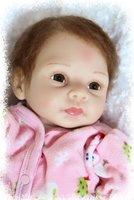 "Lifelike 22""  newborn Baby Doll soft silicone vinyl reborn babies handmade lovely baby toys"