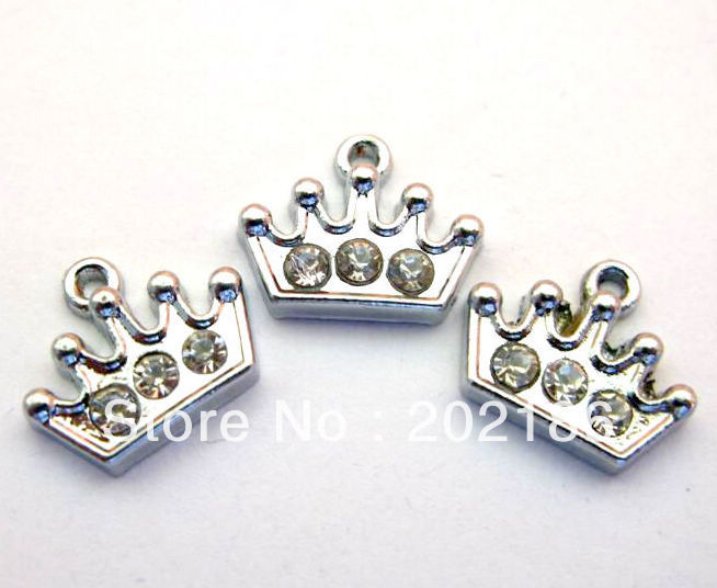 50pcs Crown Hang Charms Fit Pet Dog Cat Tag Collar Wristband 12x15mm(China (Mainland))