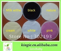 free shipping 300pcs cream color milk pad, reusable, washable, economic bamboo breast pad
