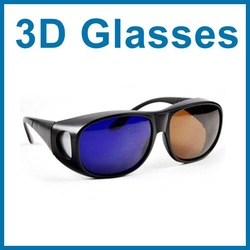 Good Quality Amber Blue 3D glasses for 3D movie/game 3d converter .3D plastic Glasses. Free Shipping(China (Mainland))