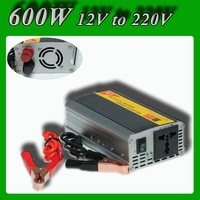 Modified Sine Wave Car power inverter 600W peak 1200W DC 12V to AC 220V power converter for solar power system