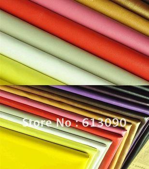 Nappa leather PU  fabrics soft supple leather DIY cloth wholesale