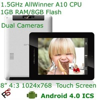 "Free shipping 8"" Onda Vi30 Elite MID AllWinner A10 CPU 1024x768 Capacitive screen 1080p HD HDMI 3G OTG dual camera WiFi driect"