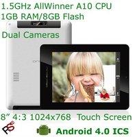 "Free shipping 8"" Onda Vi30 Elite MID AllWinner A10 CPU 1024x768 Capacitive screen 1080p HD HDMI 3G OTG dual camera WiFi driect"