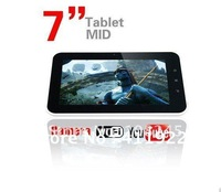 "Free Shipping Android 4.0 MID 7"" Capacitive tablet PC with 512MB/8GB,Camera wifi A13 pc tablet 7"