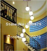 Free Shipping New Pendant Light, Hanging Light,  8 lights  Glass Stair Pendant Lamp