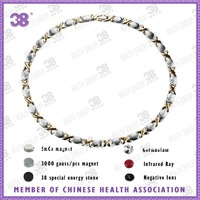38 brand health jewelrys  fashion style titanium  5 in 1 energy necklace 9049b