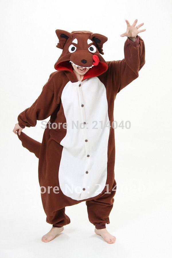 New Style Wolf Kigurumi font b Pajamas b font font b Adult b font Cosplay Women Giving Rocco Siffredi deep BJs is