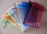 9*7cm plain single color Yarn Jewelry Bag organza jewellery pouch gift bags pouches