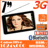 All in one-7&quot; tablet pc 3g with gps capacitive WIFI Analogy TV Bluetoth GSM FM android 1gb ram,freeshipping