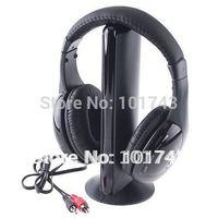 5IN1 Wireless Headphone Earphone Casque Audio 5 en1 Sans Fil Ecouteur Hi-Fi Radio FM TV MP3 MP4,free shipping