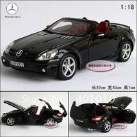 New 1:18 Benz SLK55 AMG roadster sports car gift box alloy car model free air mail