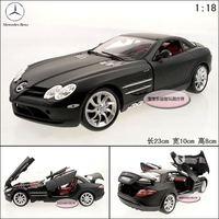 New Black 1:18 Benz SLR Mclaren roadster sports car scrub black exquisite gift box alloy car model free air mail