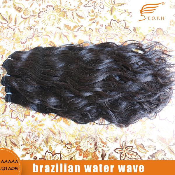 Water Wave 4pcs/lot Brazilian Virgin Hair Weave Human Hair Extensions