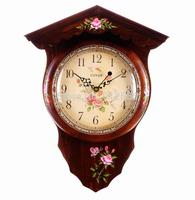Solid Wood Cheap Wall Clock Antique Clock Wall