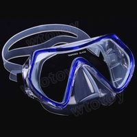 Scuba Diving Snorkeling Silicone Mask Set (Blue)