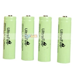 4Pcs/Set UltraFire AA Rechargeable Battery 1.2V 3500mAh Rechargeable Ni-MH Battery Free Shipping(China (Mainland))