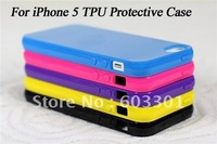 10pcs/lot TPU Material protective cover for IPHONE 5,  tpu case protector for iPhone 5G, free shipping