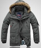 Free shipping !!! 2014 New Men's Brand winter fashion Outdoor warm waterproof down jacket down Coat / S-5XL