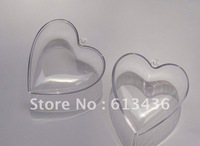 clear plastic heart capsule or christmas heart capsule or christmas plastic capsules
