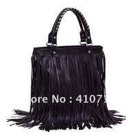 Free Shipping New High Quality Fashion Women/ Lady&#39;s Punk Tassel Fringed Handbag Tote Shoulder Purse Bag