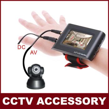 "2.5"" TFT LCD Portable CCTV Monitor Testing Camera Video CCTV Tester free shipping"