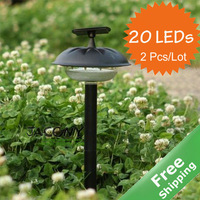 Solar Garden Light+ 20 Bright LEDs+100 % solar powered+ 2Pcs/Lot+ Free shipping