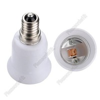 2pcs New E14 to E27 Converse Base Adapter For LED Halogen CFL Light Lamp Bulb Free Shipping