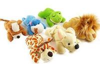 Wholesale Freeshipping Nici series jungle plush toy small doll cartoon animal refrigerator stickers magnet  PT3061