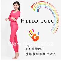 Free shipping! Model Thin section Women Shape Underwear Seamless thermal underwear set ,suit underwear