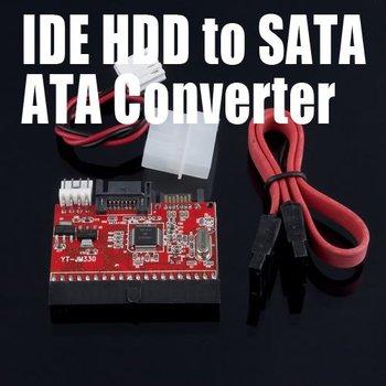 NEW IDE HDD to SATA Serial ATA Converter Adapter+SATA /Power Cable Black