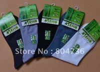2012 Wholesale Bamboo fiber men's socks color mix 40 pairs / lot